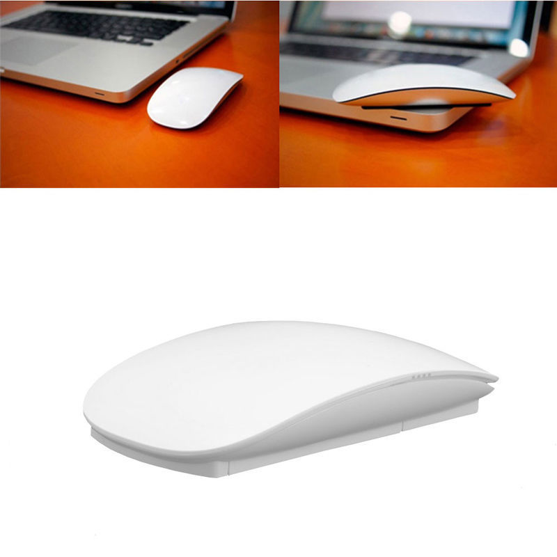 Wireless Optical Multi-Touch Magic Mouse 2.4GHz Mice For Windows Mac OS White