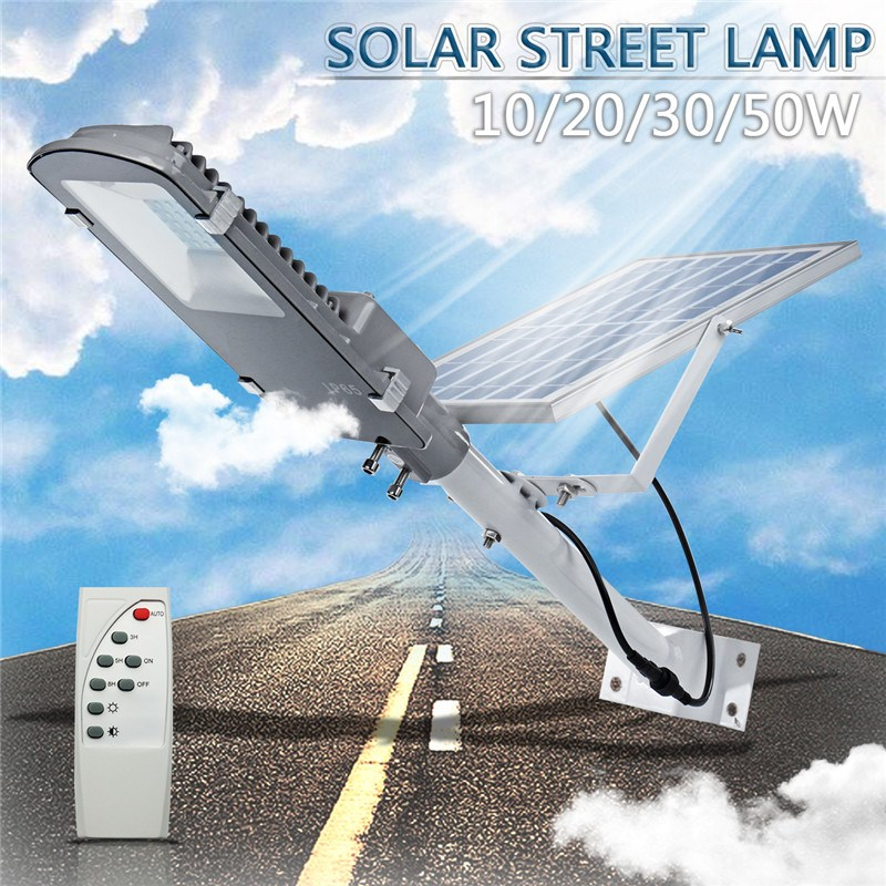 Smuxi Outdoor Waterproof LED Solar Powered Wall Street Path Light Flood Lamp For Garden Yard 3 Working Modes 10/20/30/50W ultrathin led flood light 200w ac85 265v waterproof ip65 floodlight spotlight outdoor lighting free shipping