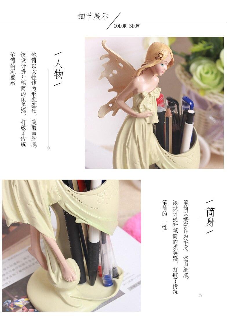 Lucky Lady, контейнер для ручек в Корейском стиле, держатель для ручек, Офисные аксессуары, Настольный Органайзер