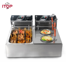 цена на ITOP Commercial electric Pasta boiler & Oden cooking machine Stainless Steel 8L/tank Deep Fryer Machine 110V/220V