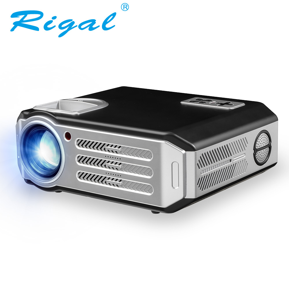 Rigal RD817 LED Android Projector 3500 Lumens Smart WIFI Projector Video HDMI USB Full HD 1080P Projetor TV Home Theater Beamer 2016 new dlp wifi 5600 lumens 4k android 4 4 home theater projector full hd 1080p digital video led mini projector