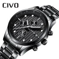 CIVO для мужчин s часы 2019 Элитный бренд часы для мужчин водостойкий хронограф Аналоговый Кварцевые часы мужские наручные часы Relogio Masculino