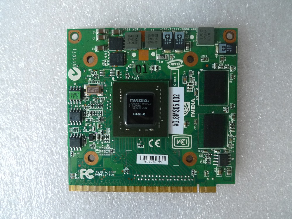 For nVidia Fo GeForce 8400M G MXM IDDR2 128MB Graphics Video Card for Acer Aspire 5920G 5520 5520G 4520 7520G 7520 7720 G image