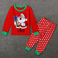 Santa Claus Tshirt + Dot Pants Children Pajamas Clothing Sets Fashion Festival Costume Ropa De Ninas Kids Girls Christmas Suits