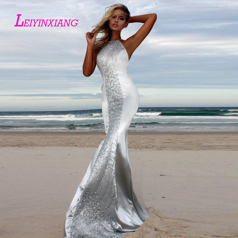 LEIYINXIANG Bling Bling Nuevo Vestido De Noche Largo Piso Longitud De La Sirena Que Rebordea Lentejuelas Sweetheart Prom Dress(China)
