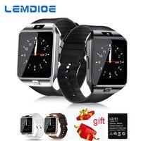 LEMDIOE Smart Watches DZ09 SIM Card Call Bluetooth Watch Smart Dz09 Battery Smartwatch Men For Android