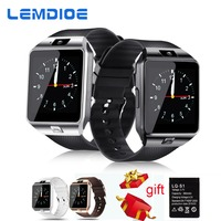 LEMDIOE Smart Watches DZ09 SIM Card Call Bluetooth Watch Smart Dz09 Battery Smartwatch Men For Android