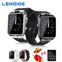 LEMDIOE Smart Watches DZ09 SIM Card Call Bluetooth Watch Smart dz09 battery smartwatch men for Android  IOS Phone