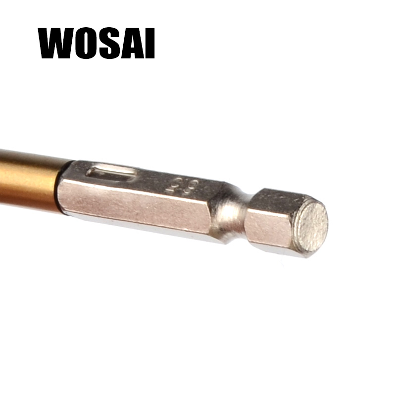 WOSAI 13stk / set HSS High Speed ​​Steel Titanium Coated Drill - Borr - Foto 3