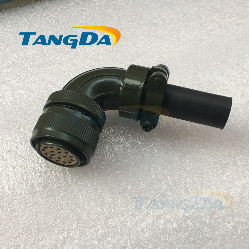 Tangda Connectors Servo motor plug aviation plug VW3M8122 17p 17pin 17 core MS3108B 20-29s Elbow YDM30200447 A. tangda connectors servo motor plug aviation plug vw3m8122 17p 17pin 17 core ms3108b 20 29s elbow ydm30200447 a