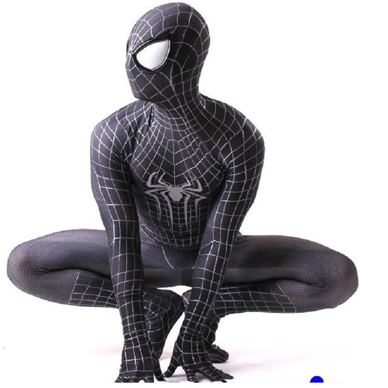 new 3d marvel legends black spider man spider man spiderman costume cosplay suit adult homecoming the