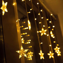 Led string lights EU Plug  christmas lights indoor  luces de patio  decorations for Paty Garden 2019 Holiday lights star curtain