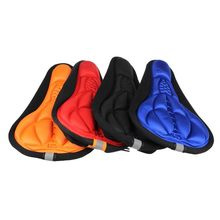 1PC Cycling Bike car-styling Cycling Bike 3D Silicone Gel Pad Black Seat Saddle Cover Soft Cushion Blue car styling Red *0.55(China)