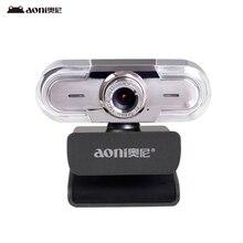 Free shipping Aoni C30 HD webcam smart TV camera computer Universal USB free drive with microphone macro shooting(China (Mainland))