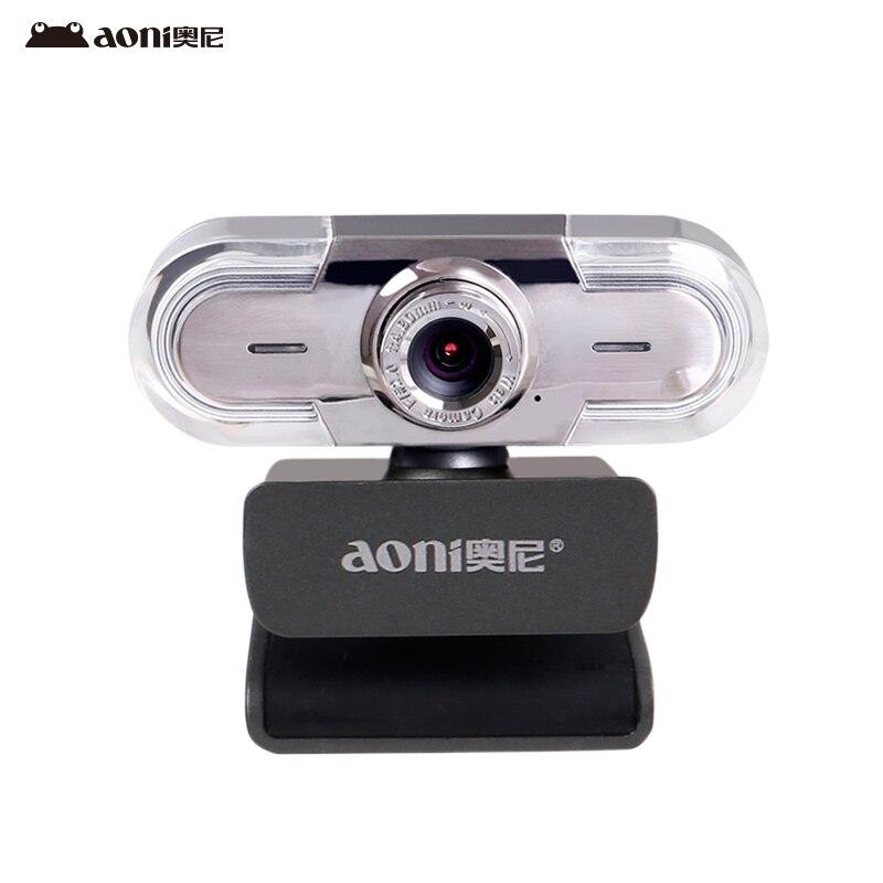 Livraison gratuite Aoni C30 HD webcam smart TV caméra ordinateur universel USB lecteur gratuit avec microphone macro prise de vue