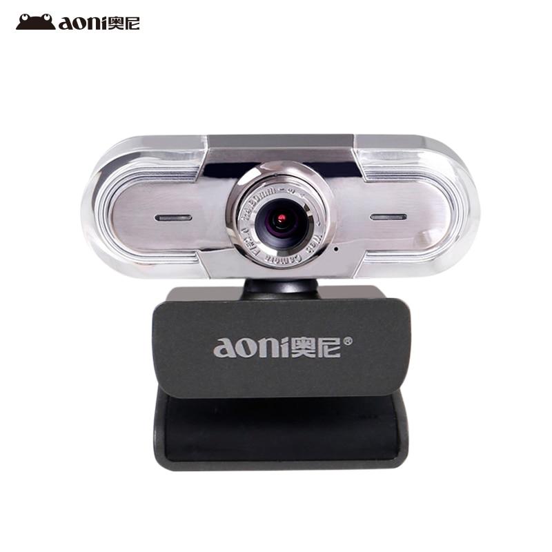 Livraison gratuite Aoni C30 HD webcam smart TV caméra ordinateur Universel USB libre sur le disque avec microphone macro tir