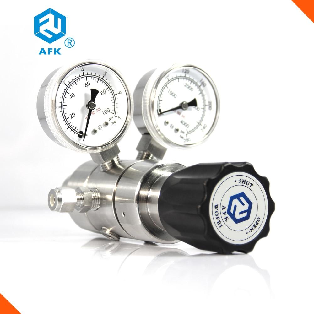 """Doppel/zweistufige Stickstoffgasdruckregler 1/4 """"npt"""