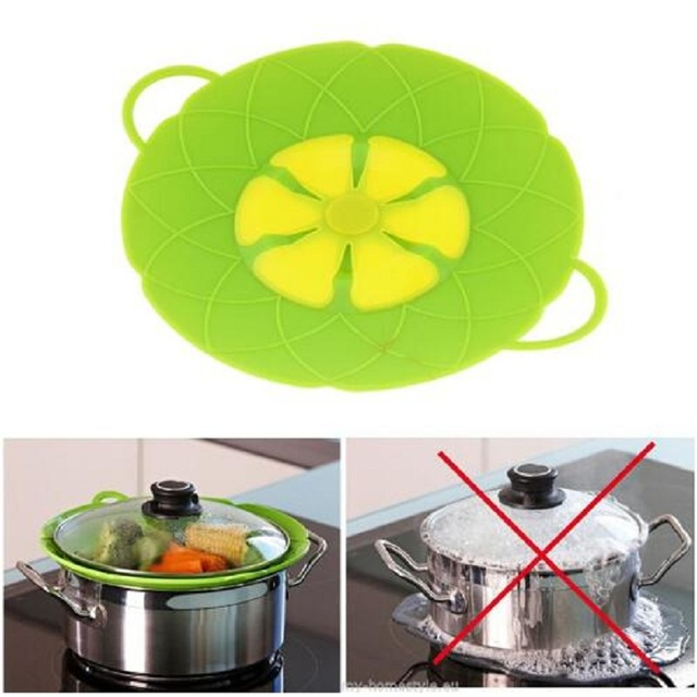 New Kitchen Gadgets Silicone Lid Spill Stopper Pan Cover 26cm