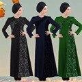 Abaya Musulmán Vestido Mujeres Largo Maxi de La Manga Dubai Abaya Jalabiya Islámico Vestido de Mujer Ropa Túnica Caftán Marroquí