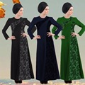 Mulheres Manga Longa Maxi Abaya Jalabiya Dubai Abaya Vestido Dos Muçulmanos Mulheres Islâmicas Vestido Roupa Robe Kaftan Marroquino