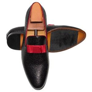 Image 5 - גברים מזדמנים נעלי חתונה בוהן עגול להחליק על אופנה רשמי נמוך העקב קלאסי שחור צבע משתה נשף גברים של עור שמלת חצאיות