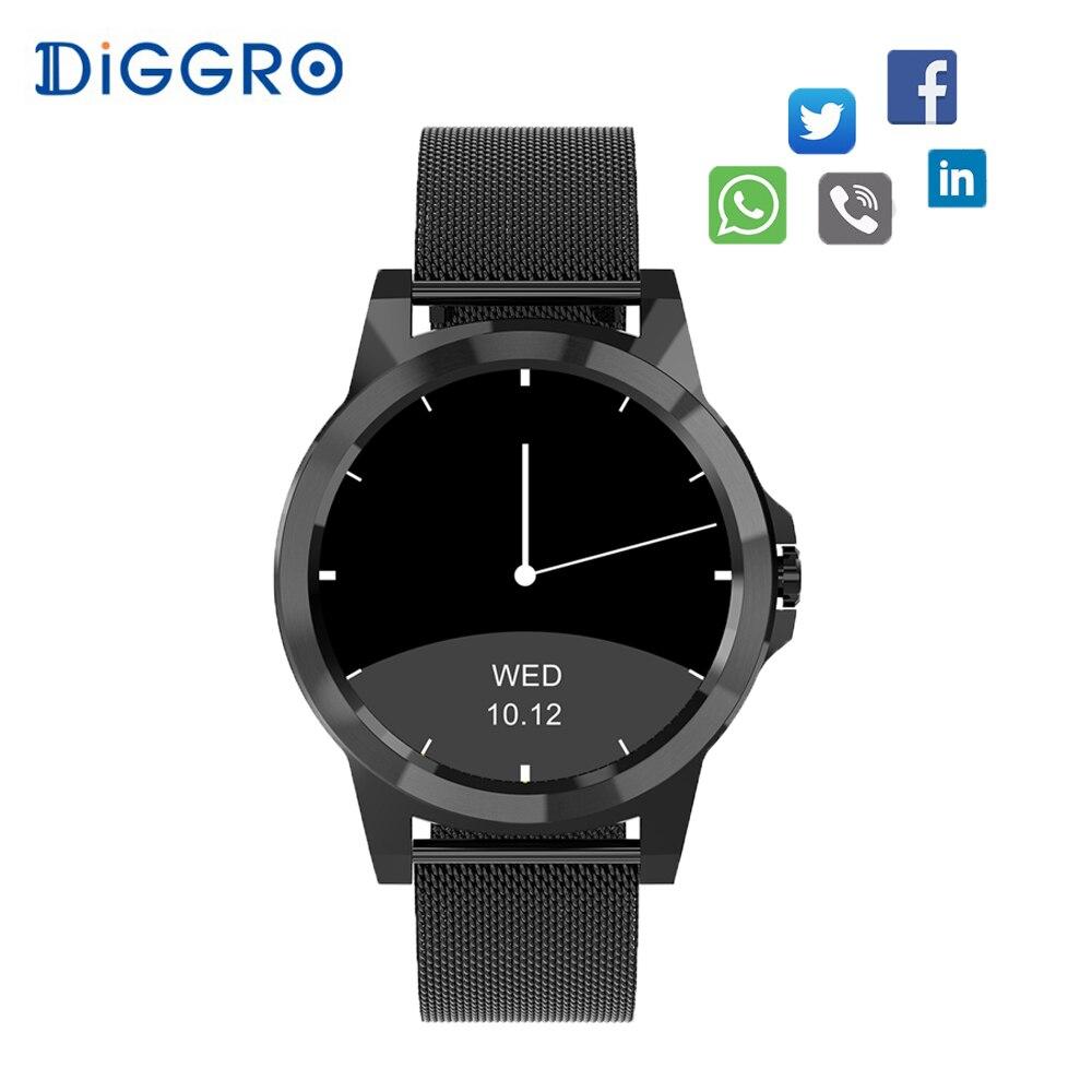 Diggro DI03 Plus Bluetooth Siri Smart watch MTK2502C IP67 Waterproof Heart Rate Monitor Pedometer Smart Watchs for Android & IOS стоимость
