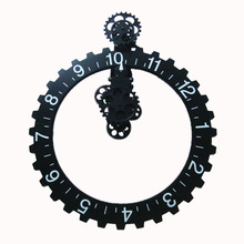 1 set 4 Colors 25 Inch Modern Design Large Decorative Gear Wall Clocks For Art Home