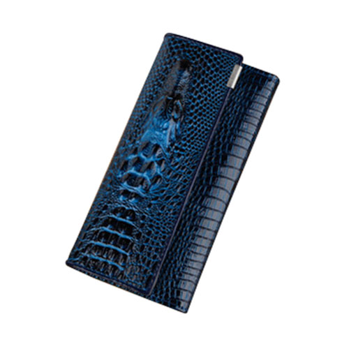 3 Fold PU Leather Women Alligator Wallet Hasp Crocodile Head Female Clutch Purse Wallet