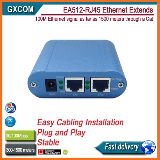 EA512 RJ45 ethernet extender to 1500 meters through Cat 5/5e