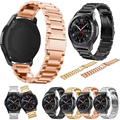 Stainless Steel Watchbands Strap for Samsung Gear S3 Classic frontier Smart Watch Replacement Wristbands Metal Wrist Strap Gold