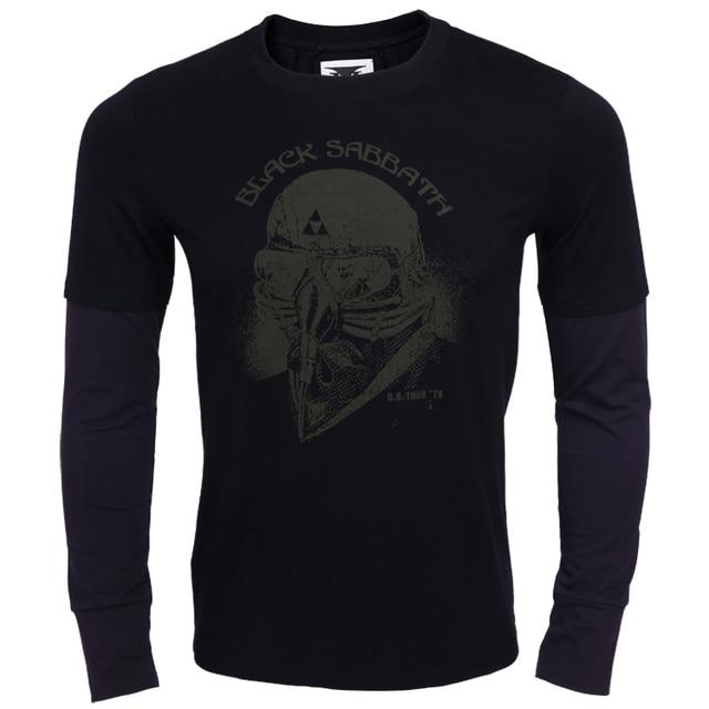 1cf48c24 Iron Man BLACK SABBATH 100% cotton long sleeve T shirt-in T-Shirts ...