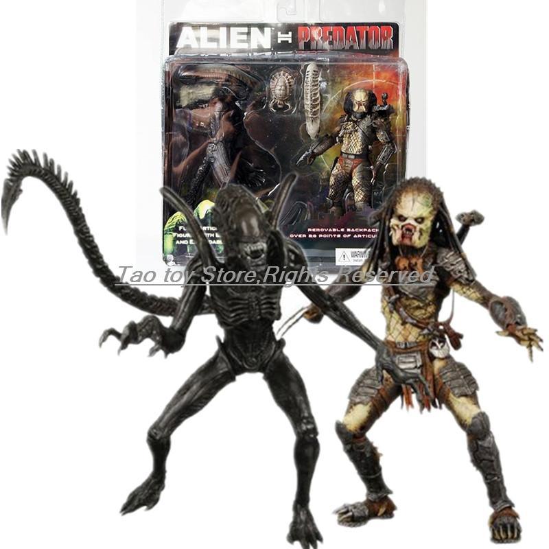 Nouveau lot de 2 PACK AVP Alien VS. Figurine d'action Exclusive du prédateur NECA