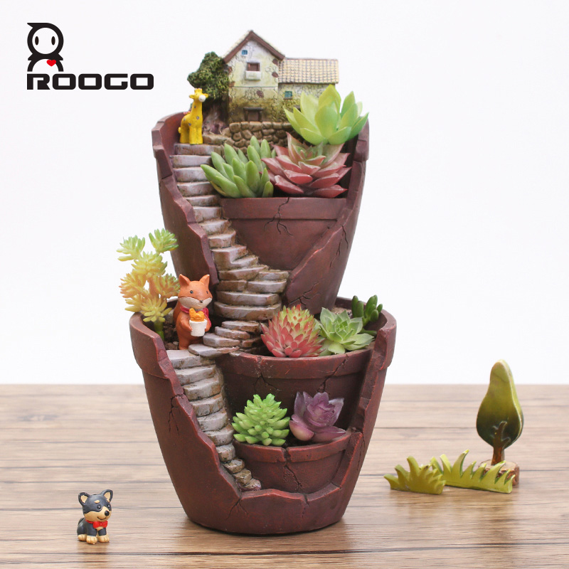 Горшок для растений roogo горшок домашнего декора из смолы в