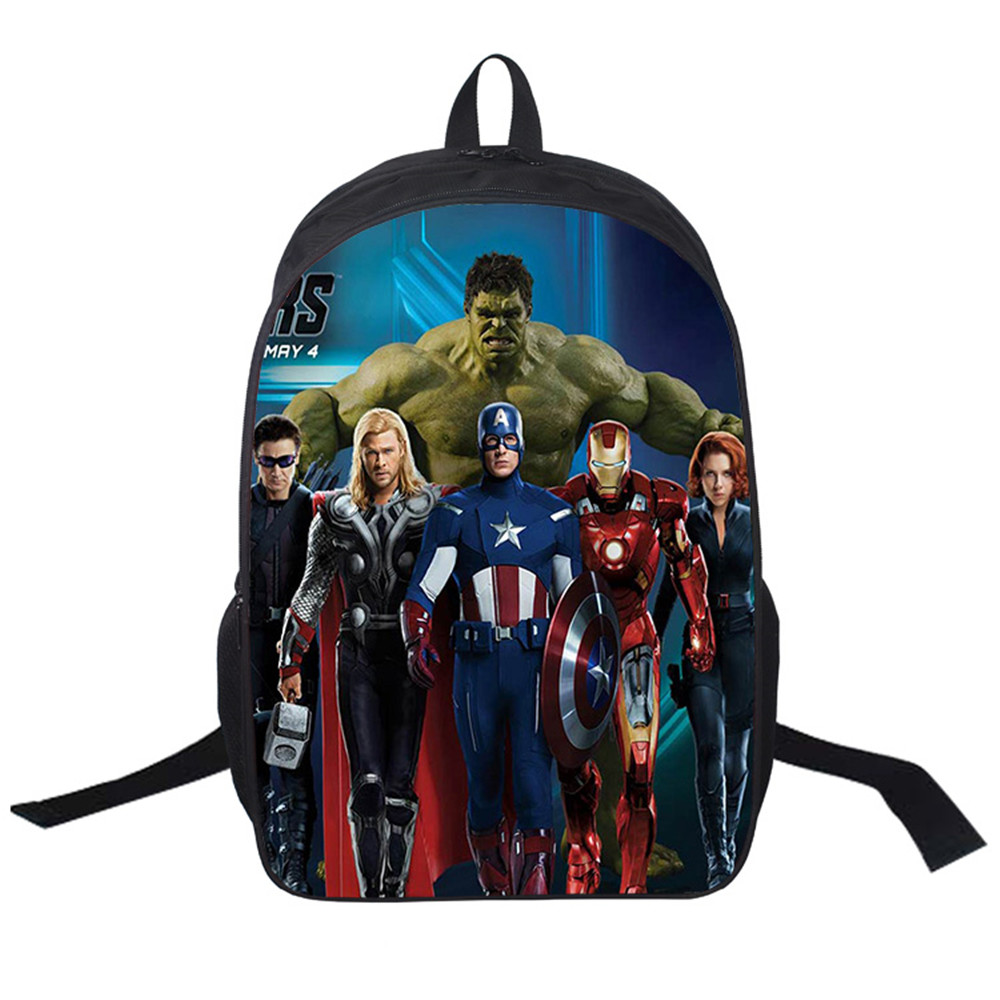 2018 Women Bags moive The Avengers prints Backpack Students School Bag For Girls Boys Backpacks mochila Private customiza crossing the animal printing backpack children school bags for teenagers boys bag kids backpacks prints dinosaur mochila bag