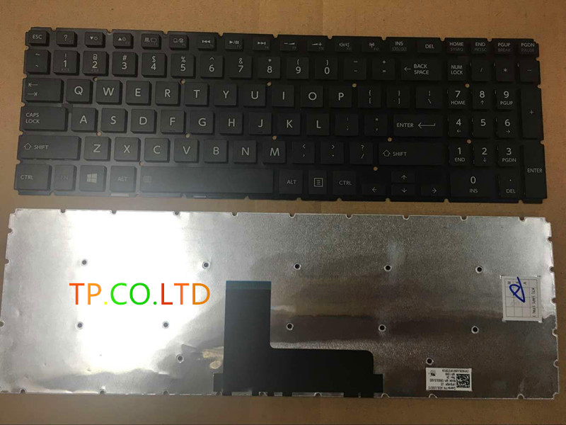 NEW English keyboard For Toshiba Satellite L50-B L50D-B L50T-B Black laptop Small Enter
