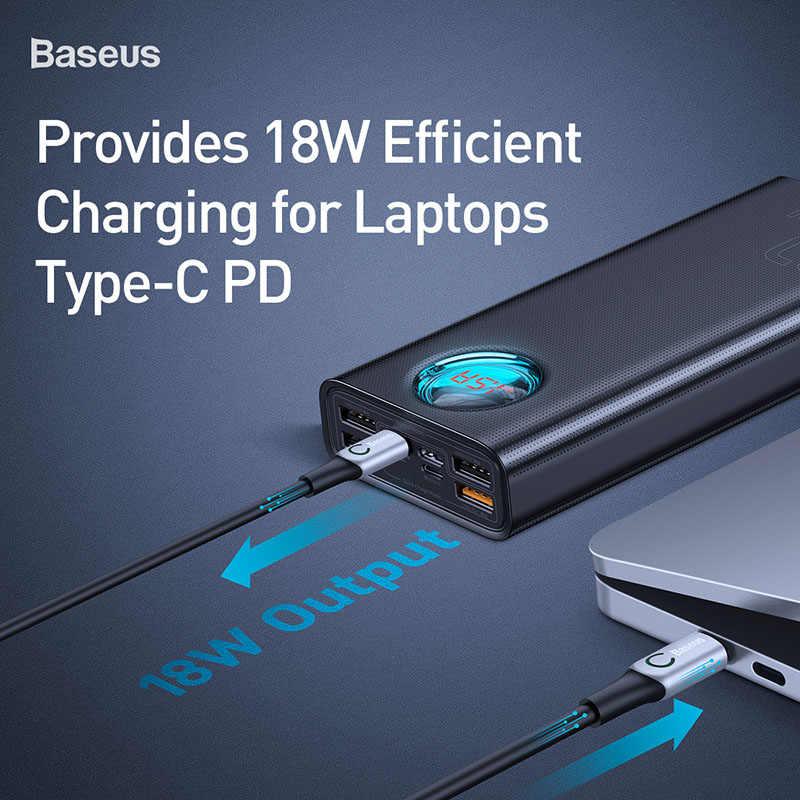Chargeur de batterie externe Portable Baseus 30000mAh pour iPhone Samsung Xiaomi 4 USB PD3.0 QC 3.0 chargeur rapide batterie externe