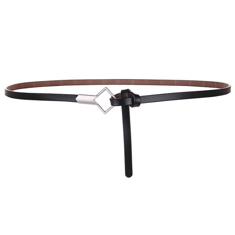 Luxury Metal Buckle Thin Belt Classic Minimalist Women Thin Belt Dress Accessories