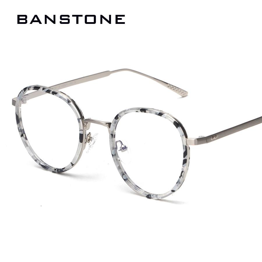 c1e131ba2ed BANSTONE Eyewear Eye Frames Men Fashion TR Eyeglasses Men Vintage Round  Glass Frame Women Clear Glasses Women Lunette de vue-in Eyewear Frames from  Apparel ...