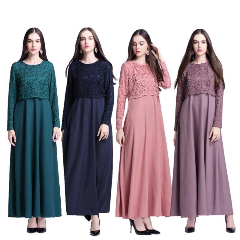 2017 Sale Adult Abaya Turkish Djellaba Caftan Ebay New Dress Female Muslim False Two Arabia