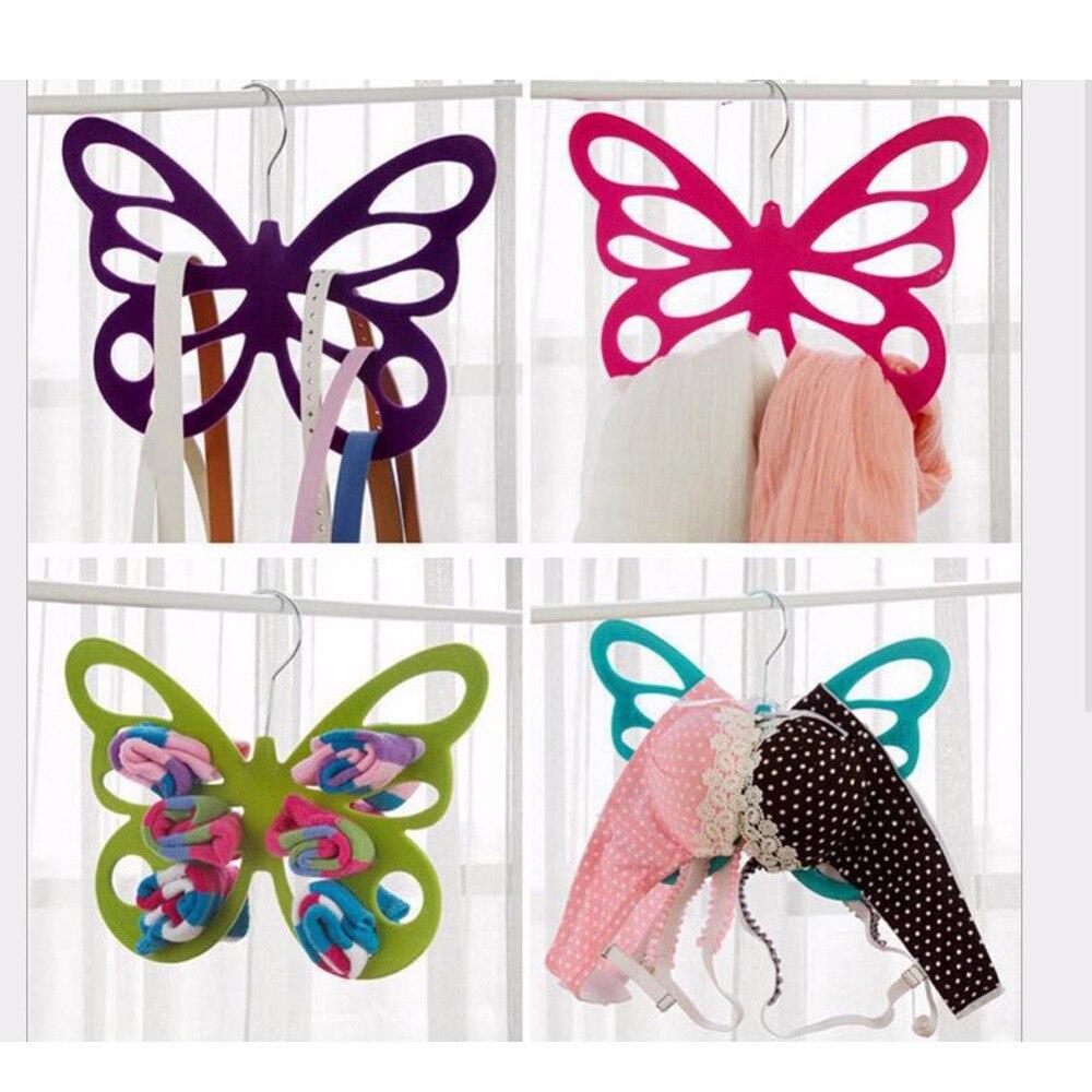 Avadoth Schoonheid Multi Color Vlinder Sjaal Houder Hanger Haak