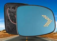 LED heating side turn signal blue curvature anti defogging dazzling rearview mirror Rear view for HONDA FIT JAZZ 2014 2018