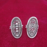 d2bdf07b991d Hot Sale New Style Guizhou Miao Handicrafts Personalized Handmade Miao  Silver Ring Ring Long Copper Drum