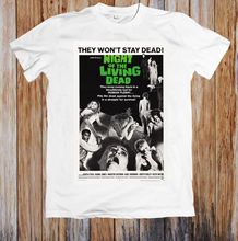 цена NIGHT OF THE LIVING DEAD 60's MOVIE POSTER UNISEX T-SHIRT Hot Sell 2018 Fashion  T Shirt Short Sleeve Tricolor New T Shirts онлайн в 2017 году