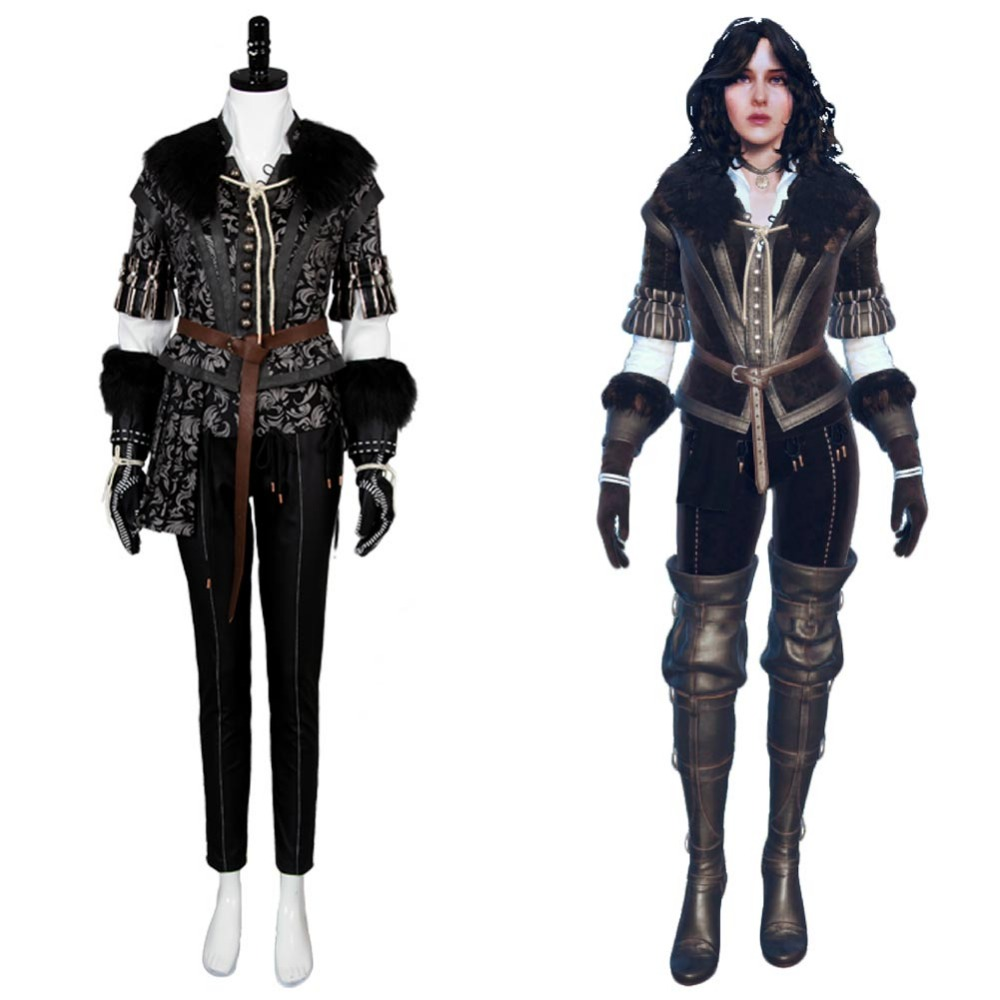 Yennefer Cosplay Costume The Witcher 3 Cosplay Wild Hunt Costume Full Set Outfit Halloween Carnival S-XXL Size In Stock Full Set