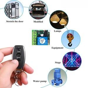 Image 5 - Kebidu 433 MHz AC 12V bezprzewodowy 1CH nadajnik RF pilot przełącznik + przekaźnik odbiorczy RF dla światła pilot do drzwi garażowych