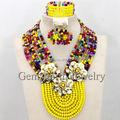 Crystal Bridesmaide Jewelry Set Nigerian Wedding African Beads Jewelry Set Beads for Wedding Free Shipping WB062