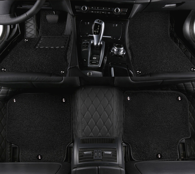 kalaisike Custom car floor mats for BMW all model X1 X4 X5 X6 535 530 X3 Z4 525 520 f30 f10 e46 e90 e60 e39 e84 e83 car styling