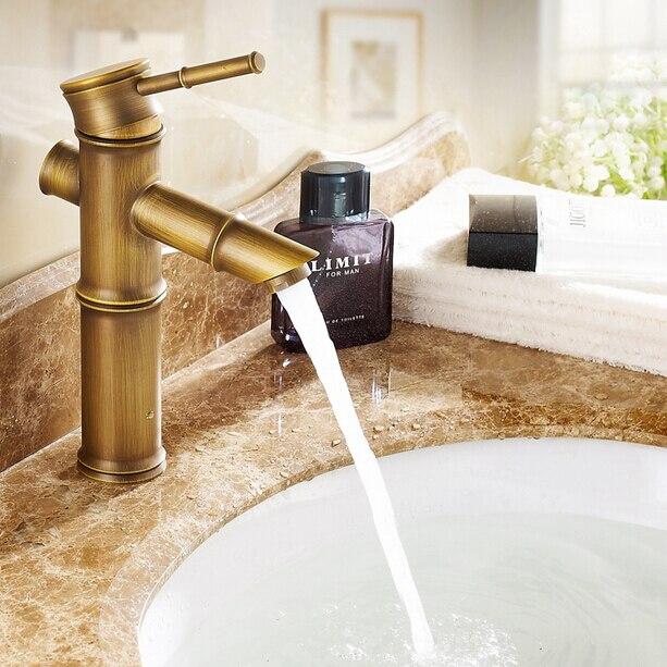 Aanrecht kraan waterval messing retro mengkranen badkamer kranen ...