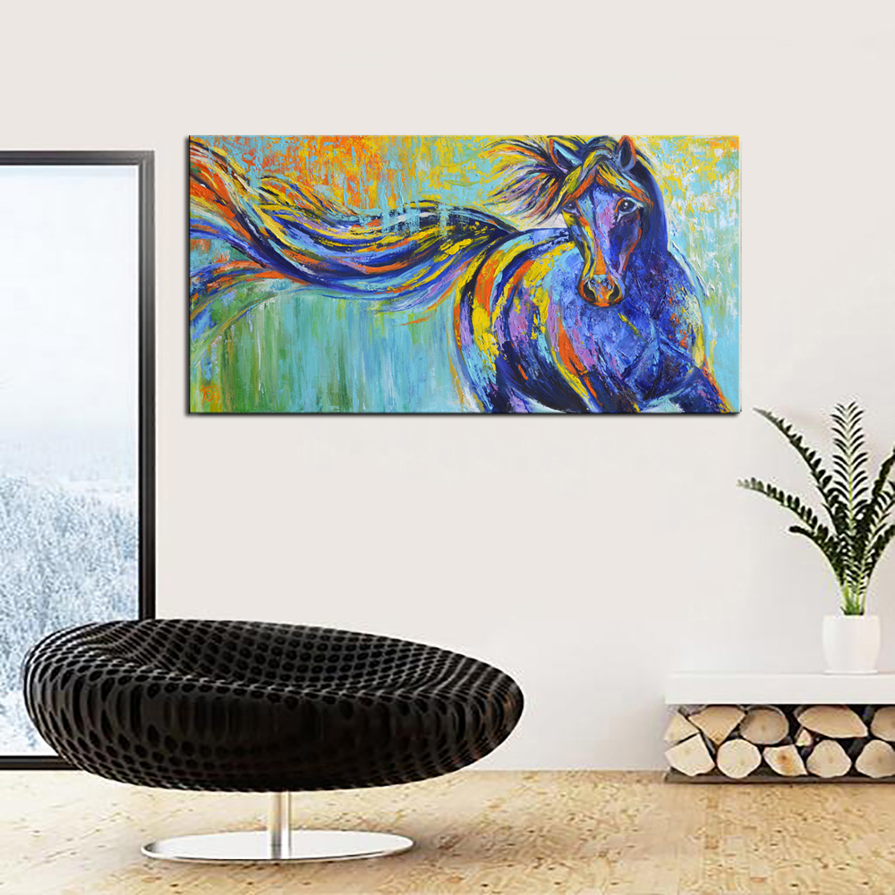 Large printed graffiti abstract art horses canvas art wall decor canvas prints oil painting on canvas living room decor