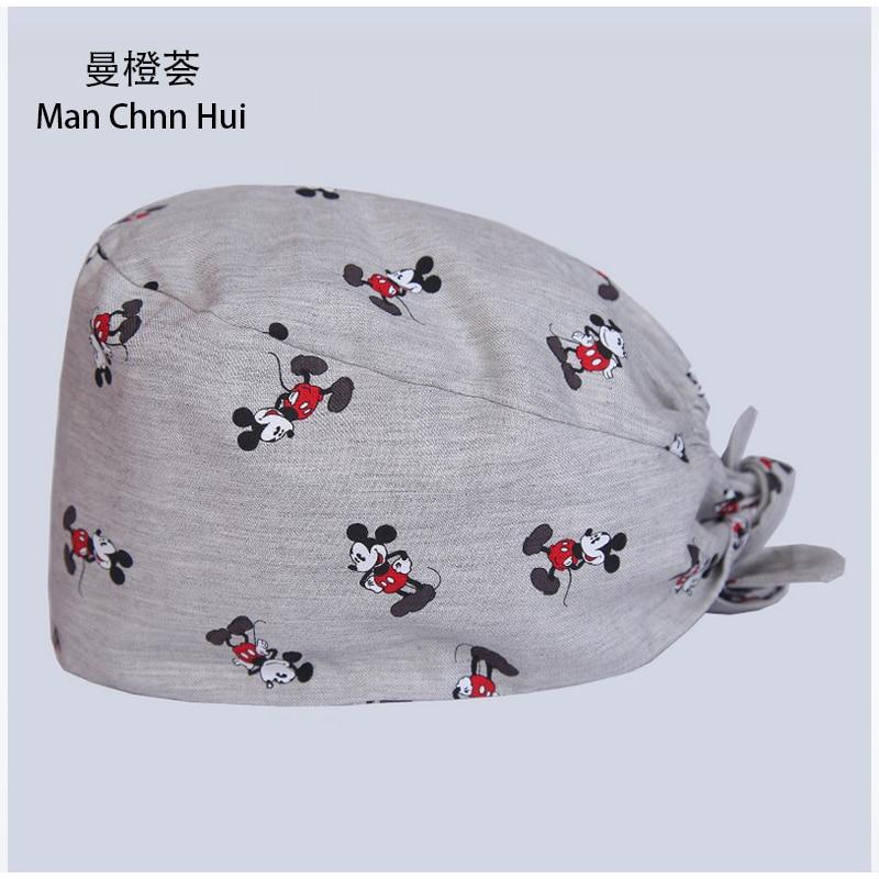 Scrub Cap Hospital Medical Surgical Caps  Tieback Elastic Mickey Hat Unisex